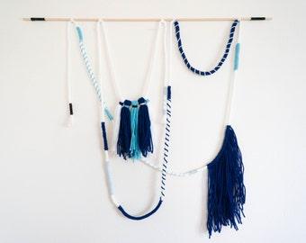Sailor Wall Tapestry // Wall Hanging // Wall Art // Rope & Yarn Hanging