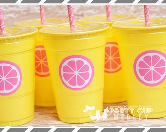 Pink Lemonade  Party Cups-Lemonade Stand Party Cups-Set of 12