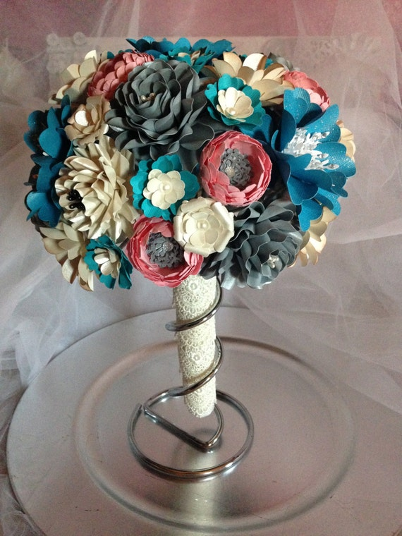 paper flower bouquets for weddings paper flower bouquet winter wedding bouquet by 6365