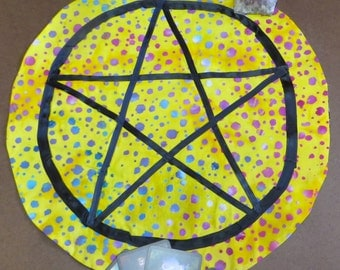 Pentagram tarot cloth, pentagram altar cloth, tarot cloth, altar cloth, tablecloth
