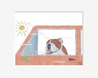 English Bulldog Art Print, Bulldog Gift, Bulldog Lovers, English Bulldog Dog