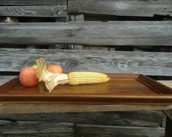 Black walnut wood serving tray -  Large walnut serving Tray - Wood tray - Wood art - Home decor - Black walnut - Serving platter, Home decor