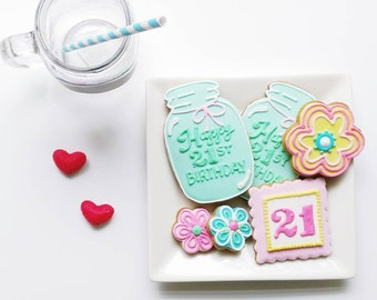 21st Birthday Cookie Gift Box