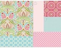 Kumari Garden Tiered Ruffled CRIB SKIRT - Baby Girl Tiered Crib Skirt - Girl Crib Bedding - Floral Ruffled Crib Skirt - Pick Your Fabric