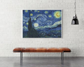 PREMIUM Counted Cross Stitch KIT The Starry Night by Vincent van Gogh