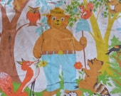 RARE Vintage Twin Flat Sheet Set Smoky The Bear Complete Set RARE Collectible