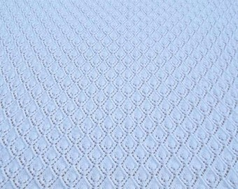 Hand knitted heirloom baby shawl blanket afghan made to order - christening shawl