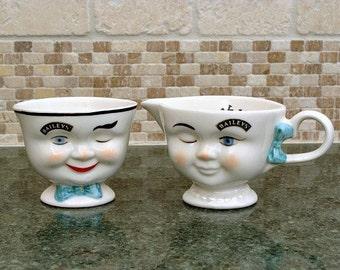 1996 LIMITED EDITION Bailey's Sugar Bowl & Creamer Cup
