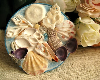 Shell soap dish. Absorbent. Keeps soap DRY!  Soap dish/hot plate/plant stand for your beach home.  FREE SHIPPING