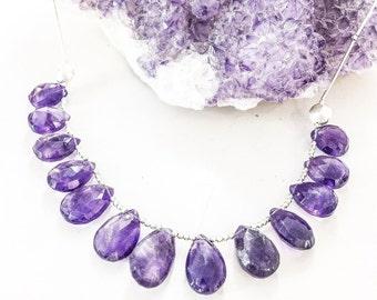 Amethyst Briolette Bead Necklace