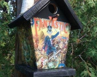 Elton John Captain Fantastic & Brown Dirt Cowboy Birdhouse