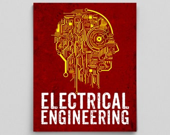 Electrical Engineer Poster Engineering Circuit Board Teacher Gifts for Teachers Typographic Print Science Art Engineering Gift Circuit Print