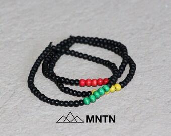 Rasta Bracelet 3-Pack Beaded Bracelet