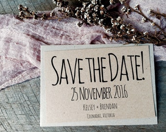PRE ORDER | Modern Save the Date Cards