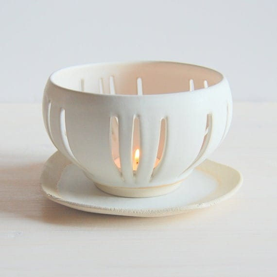 Ceramic Votive Tea Light Holder Candle Holder Candle Dish Tea