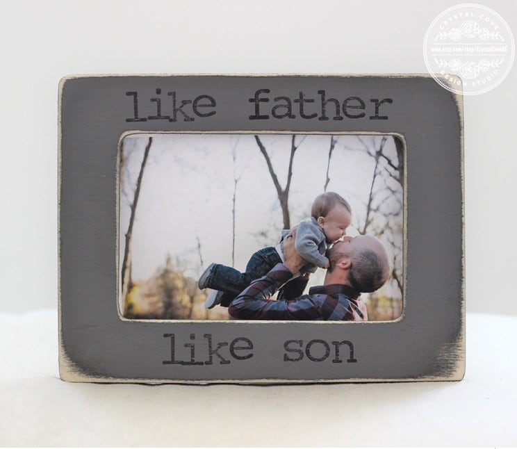 Gifts From Son To Dad Part - 41: Gift For Dad Gift From Son Father Son Personalized Picture Frame Like Father  Like Son Quote
