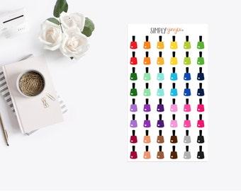48 Nail Polish Bottle Stickers
