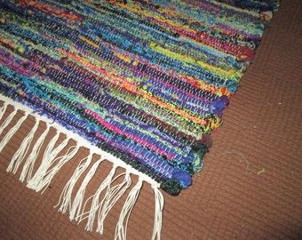 Beautiful Multi Coloured Solmate Sock Looper Rag Rug (052701)