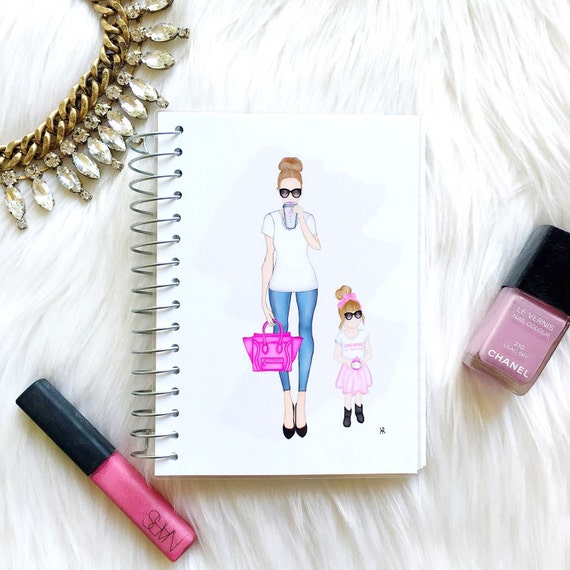 girl boss and girlboss in training notebook, girlboss notebook, girly notebook, girly stationary, mommy and me, custom notebook