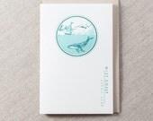 Best Coast SEA Letterpress Greeting Card
