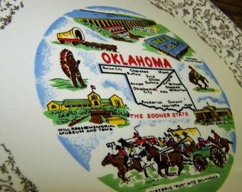 Oklahoma Souvenir Plate Oklahoma State Plate