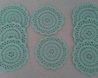 Mint Green Coasters Set of 8