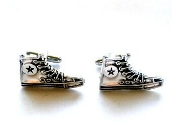 Tennis Shoe Cuff Links, Dr. Who Men's Gift, Handmade Gift