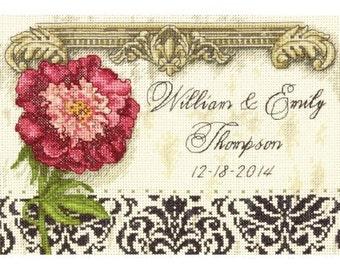 Cross Stitch Kit - Elegant Wedding Record