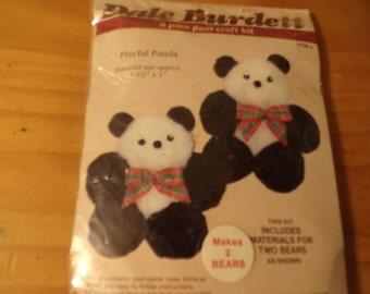 POM POM CRAFT Kit Panda Bears
