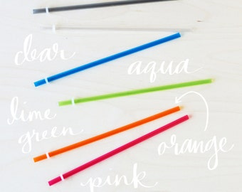 Reusable Acrylic Straw Bundles