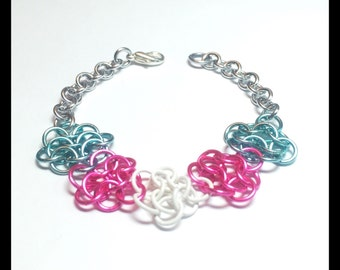 Trans Pride Charity Chainmaille Bracelet