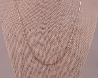 Faceted Sterling Silver Snake Chain
