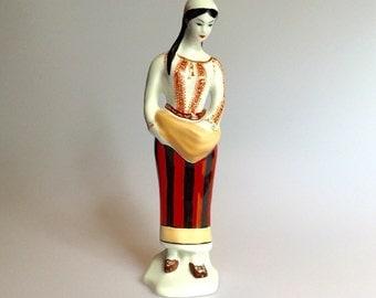 Beautiful China Figurine signed Stipo Dorohoi made in Romania