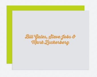 Bill Gates - Graduation Card