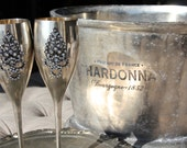 Silver goblets, vintage french decor, vintage silver-plate, Mediterranea Design Studio, altered silver goblets, shabby chic silver