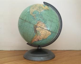Retro Mid Century School Globe -  Weber Costello - Circa 1949