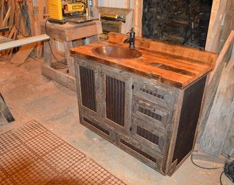 24 hexagon reclaimed repurposed rustic by cowancreekcreations for 24 reclaimed wood vanity