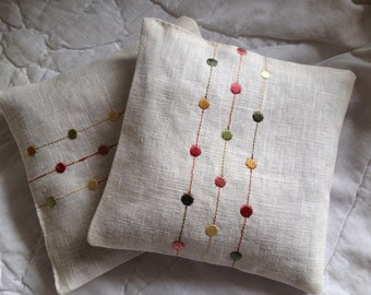 A pretty pair of Lavender pillows/sachets/bags - Great Gift