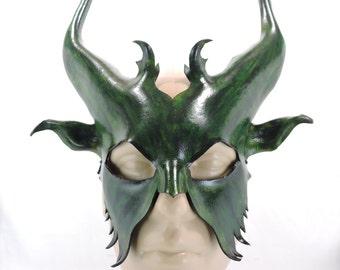 Satyr Mask - Green - Faun Woodland God Greek Mythology