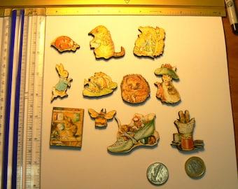 Peter rabbit and friends , Beatrix potter theme wood cut outs.