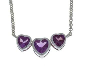 2 Ct Alexandrite Heart Bezel Pendant .925 Sterling Silver