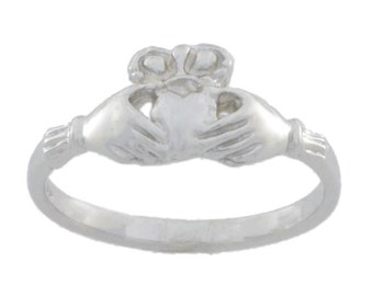 Claddagh Heart Ring .925 Sterling Silver