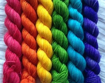 "Rainbow ""Roy G Biv"" Set of 20g Mini Skeins"