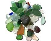 Genuine SeaGlass, Altar, Craft quality, Depression Glass, Antique, Meditation, Terrarium Kit Accents, Zen, UV GLOW!