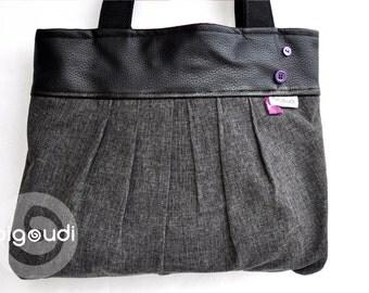 """square bag """"PLEAT-TOTE"""