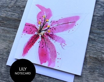 Lily Notecard Set of 3 or 6