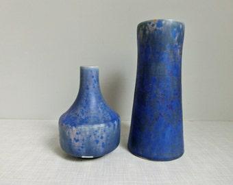 Studio pottery vases set R.Weber Kassel 70s