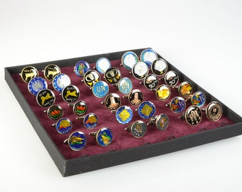 Cufflinks Display.Tray for cufflinks for cufflinks
