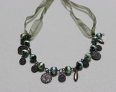 Green Beads Necklace Beaded Necklace