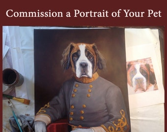 Portrait of Your Pet, Painting From Photo, Custom Portrait of Your Pet, Oil Painting